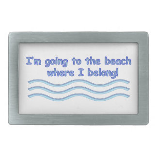 Going To The Beach Belt Buckle