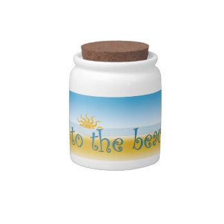 going to the beach fund jar candy dish