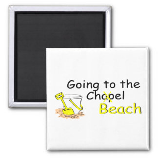 Going To The Beach (Pail) 2 Inch Square Magnet