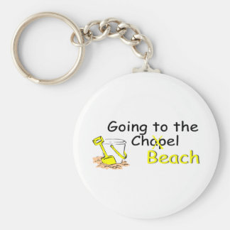 Going To The Chapel Beach Basic Round Button Keychain