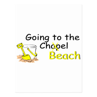 Going To The Chapel (Beach) (Pail) Postcard