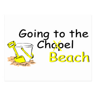 Going To The Chapel Beach Postcard