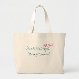 Going to the Chapel Beach Tote Bag