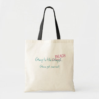 Going to the Chapel Beach Wedding tote Bags