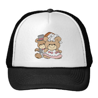 going to the chapel bride and groom bears trucker hat