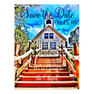 Going to the Chapel Save the Date Wedding Postcard