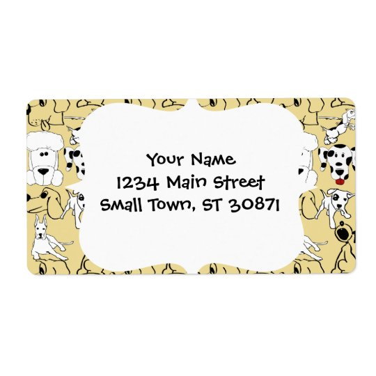 Going to the Dogs Pet Lovers Vet Dog Gifts Label