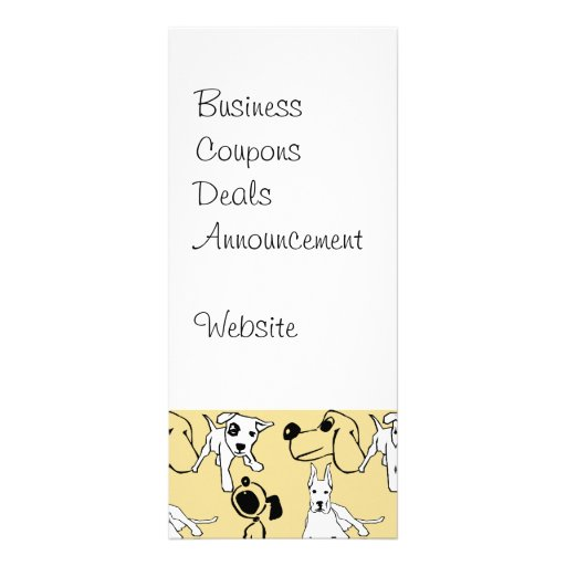Going to the Dogs Pet Lovers Vet Dog Gifts Custom Rack Card