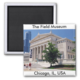 Going to the Field Museum 2 Inch Square Magnet