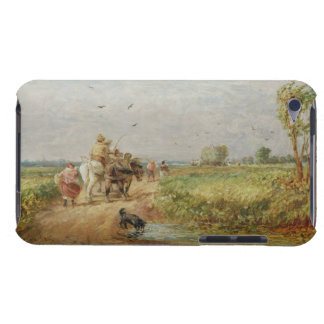Going to the Hayfield, 1853 (oil on millboard) iPod Case-Mate Cases