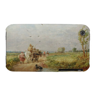 Going to the Hayfield, 1853 (oil on millboard) iPhone 3 Case