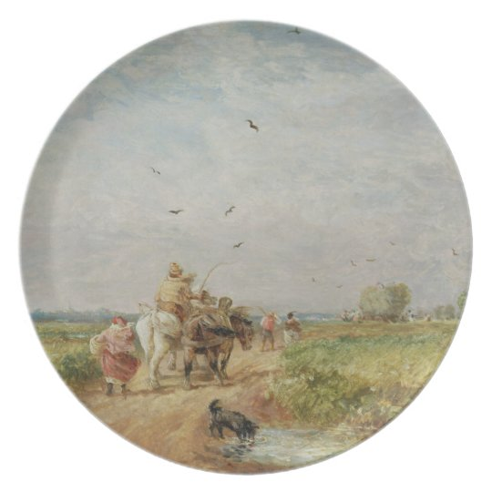 Going to the Hayfield, 1853 (oil on millboard) Melamine Plate