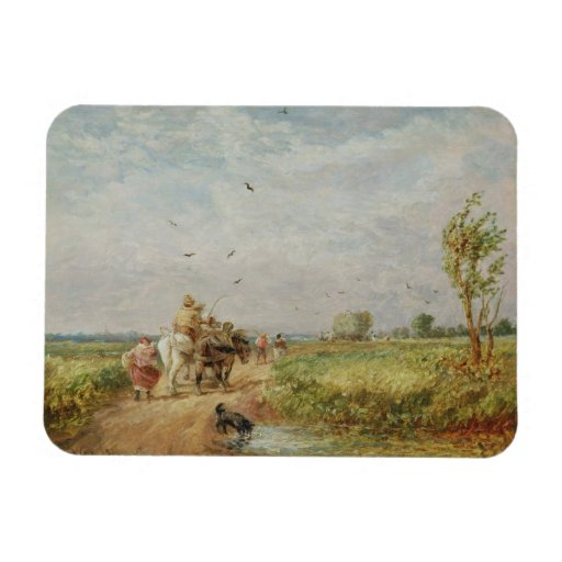 Going to the Hayfield, 1853 (oil on millboard) Rectangular Photo Magnet