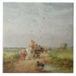Going to the Hayfield, 1853 (oil on millboard) Tile