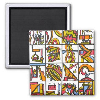 Going To The Playground - Abstract Art Magnet
