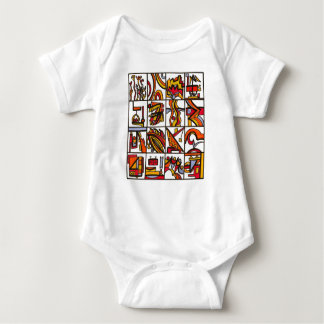 Going To The Playground-Modern Art Ink Drawing Baby Bodysuit