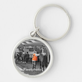 Going to the Post Silver-Colored Round Keychain