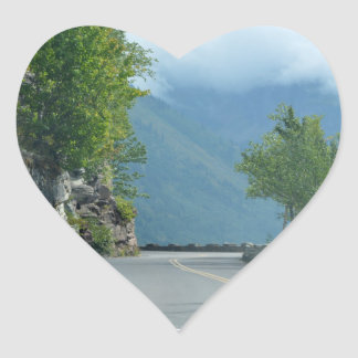 Going to the Sun Road Heart Sticker