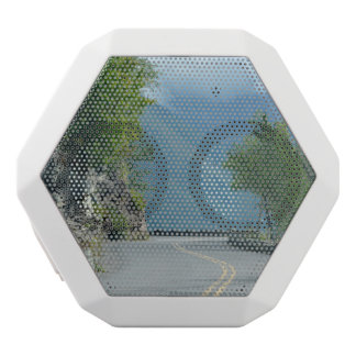 Going to the Sun Road White Bluetooth Speaker