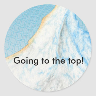 Going to the Top Classic Round Sticker