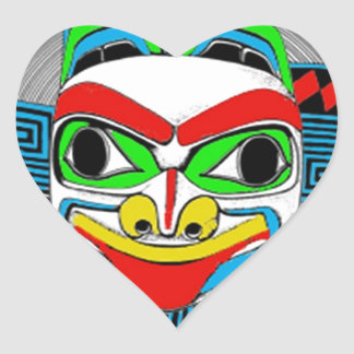 GOING TRIBAL.jpg Heart Sticker