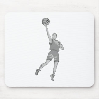 Going up for the layup mouse pad