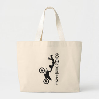 going vertical large tote bag