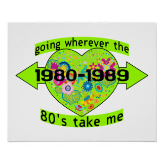 Going Wherever The 80's Take Me Poster