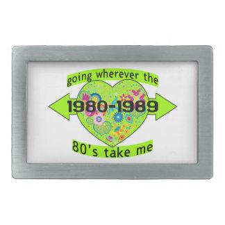 Going Wherever The 80's Take Me Rectangular Belt Buckle