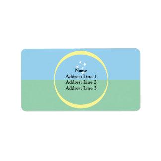 Goioere Parana Brasil, Brazil flag Custom Address Label