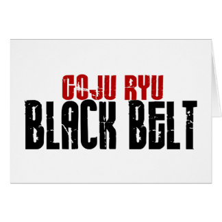 Goju Ryu Black Belt Greeting Card
