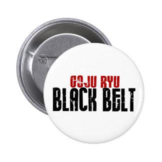 Goju Ryu Black Belt Pinback Button