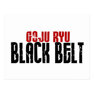 Goju Ryu Black Belt Postcard