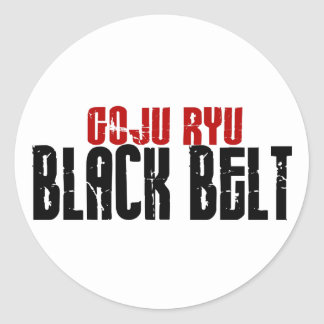 Goju Ryu Black Belt Round Stickers