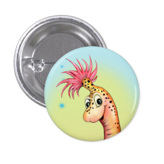 GOKKI ALIEN MONSTER CARTOON Round Button Small 2