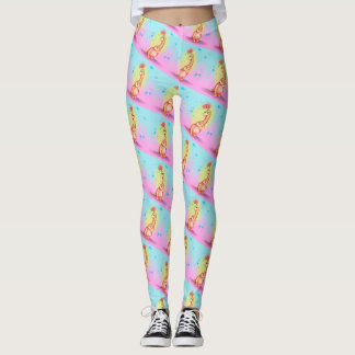 GOKKI CUTE ALIEN MONSTER CARTOON Leggings
