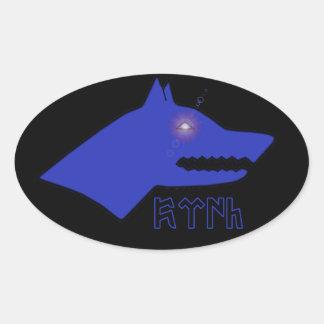 Gokturk Oval Sticker