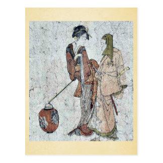 Gokuin Seneimon por Katsushika, Hokusai Ukiyo-e. Postales