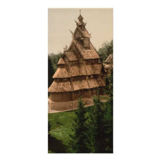 Gol Stave Church Oslo Norway Rack Card Template