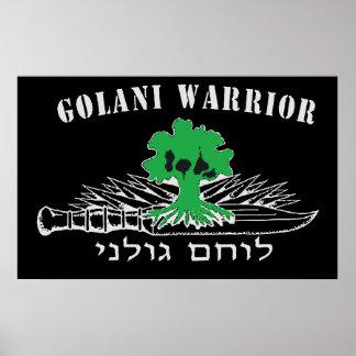 Golani Warrior Dark Poster