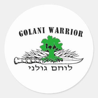 Golani Warrior Light Classic Round Sticker