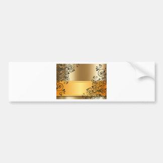 gold #12 bumper sticker