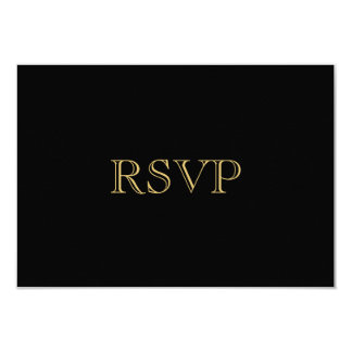 Gold 1920s Art Deco RSVP Card