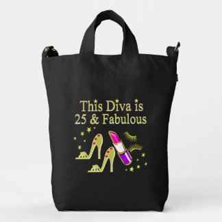 GOLD 25 AND FABULOUS DIVA DESIGN DUCK BAG