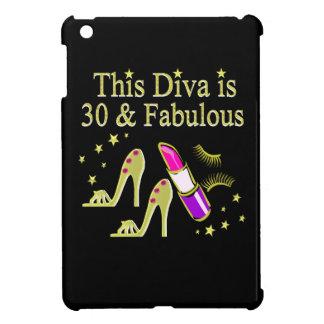 GOLD 30 AND FABULOUS 30TH BIRTHDAY DESIGN iPad MINI COVERS