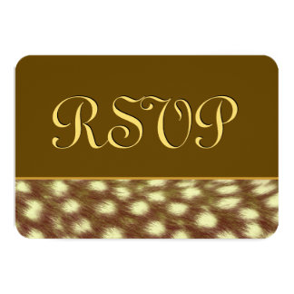 GOLD 3 Cheetah RSVP Wedding Template V15