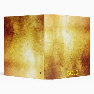 GOLD 3 RING BINDER