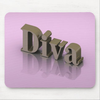 Gold 3D Diva Mouse Pad