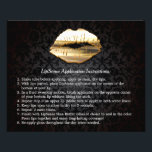 """Gold 3D Lips Beauty Salon Makeup Instruction Tips Flyer<br><div class=""""desc"""">Gold 3D Lips Beauty Salon Makeup Instruction Tips Flyer.  (1) For further customization,  please click the &quot;customize further&quot; link and use our design tool to modify this template.  (2) If you need help or matching items,  please contact me.</div>"""