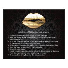 Gold 3d Lips Beauty Salon Makeup Instruction Tips Flyer at Zazzle